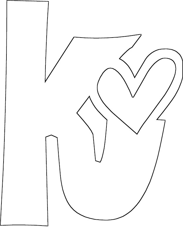 Letter k coloring pages car interior design for The letter k coloring pages