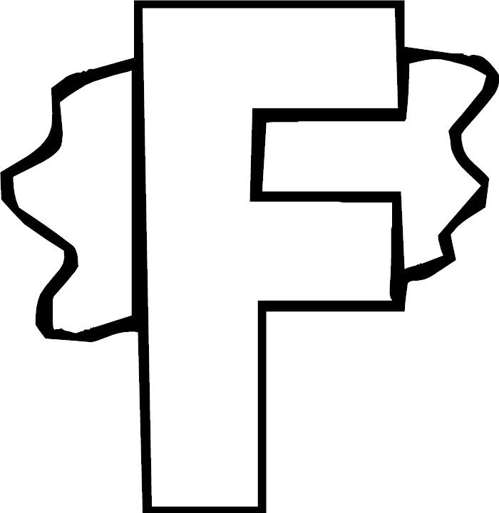 f letter coloring pages - photo #20
