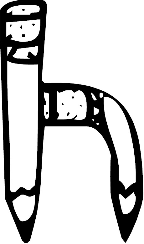 letter h coloring page letter h
